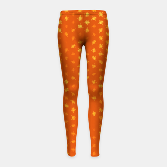 Miniaturka leo zodiac sign pattern yo Girl's leggings, Live Heroes