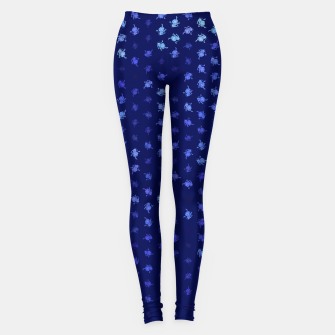 Miniatur leo zodiac sign pattern std Leggings, Live Heroes