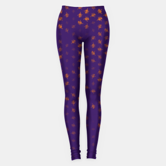 Miniatur leo zodiac sign pattern po Leggings, Live Heroes