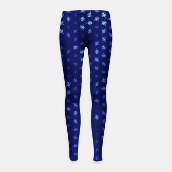 leo zodiac sign pattern std Girl's leggings thumbnail image