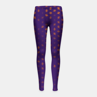Thumbnail image of leo zodiac sign pattern po Girl's leggings, Live Heroes