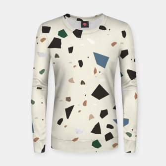 Thumbnail image of Bluestone Eden Green Black Terrazzo #1 #decor #art  Frauen sweatshirt, Live Heroes