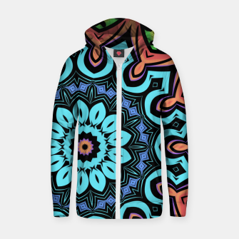 Miniatur Bold Pop Art Mandala Collage Village Set A (011) Zip up hoodie, Live Heroes