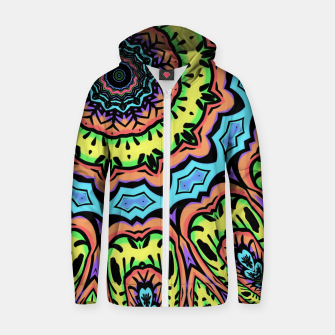 Thumbnail image of Bold Pop Art Mandala Collage Village Set A (015) Zip up hoodie, Live Heroes