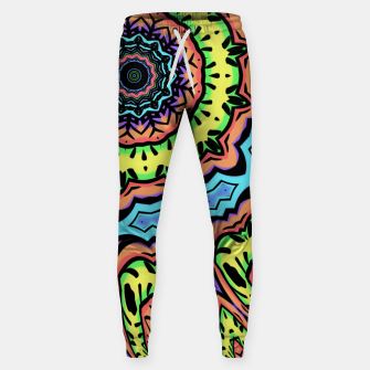 Thumbnail image of Bold Pop Art Mandala Collage Village Set A (015) Sweatpants, Live Heroes