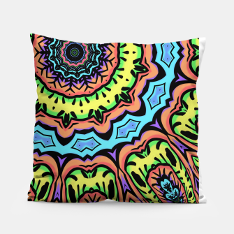 Thumbnail image of Bold Pop Art Mandala Collage Village Set A (015) Pillow, Live Heroes