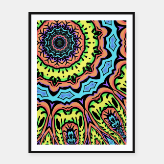 Thumbnail image of Bold Pop Art Mandala Collage Village Set A (015) Framed poster, Live Heroes