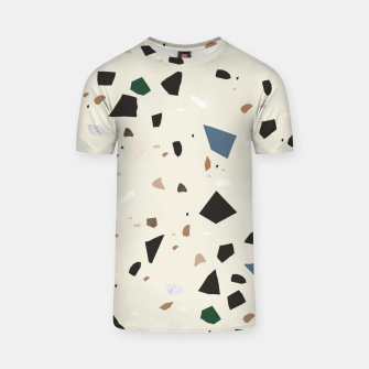 Thumbnail image of Bluestone Eden Green Black Terrazzo #1 #decor #art  T-Shirt, Live Heroes