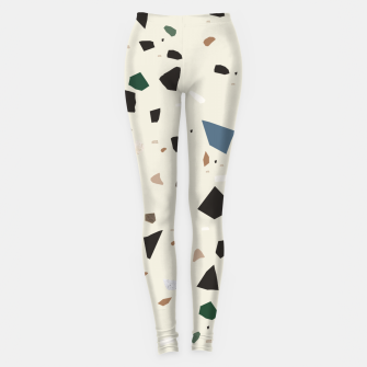 Miniatur Bluestone Eden Green Black Terrazzo #1 #decor #art  Leggings, Live Heroes