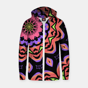 Thumbnail image of Bold Pop Art Mandala Collage Village Set A (010) Zip up hoodie, Live Heroes