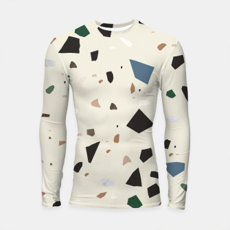 Thumbnail image of Bluestone Eden Green Black Terrazzo #1 #decor #art  Longsleeve rashguard, Live Heroes