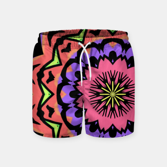 Thumbnail image of Bold Pop Art Mandala Collage Village Set A (010) Swim Shorts, Live Heroes
