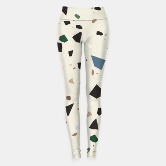Thumbnail image of Bluestone Eden Green Black Terrazzo #1 #decor #art  Leggings, Live Heroes