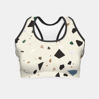 Miniaturka Bluestone Eden Green Black Terrazzo #1 #decor #art  Crop Top, Live Heroes
