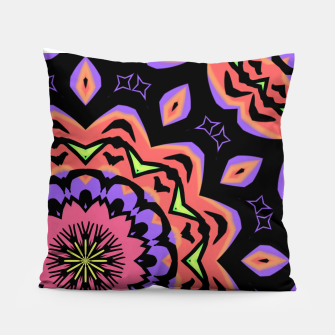 Thumbnail image of Bold Pop Art Mandala Collage Village Set A (010) Pillow, Live Heroes