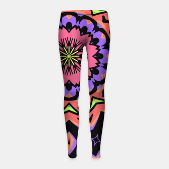 Thumbnail image of Bold Pop Art Mandala Collage Village Set A (010) Girl's leggings, Live Heroes