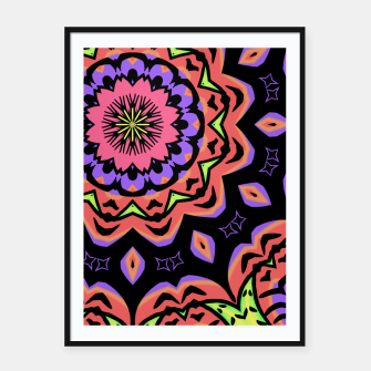 Thumbnail image of Bold Pop Art Mandala Collage Village Set A (010) Framed poster, Live Heroes