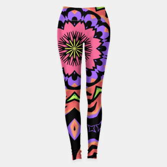 Thumbnail image of Bold Pop Art Mandala Collage Village Set A (010) Leggings, Live Heroes
