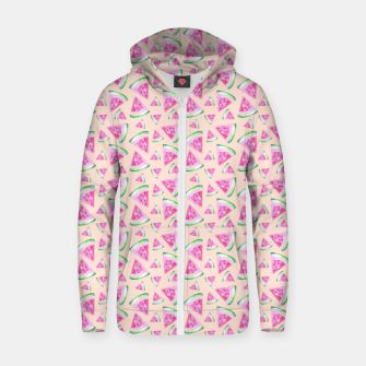 Miniatur Watermelon Pattern Zip up hoodie, Live Heroes