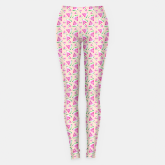 Miniatur Watermelon Pattern Leggings, Live Heroes