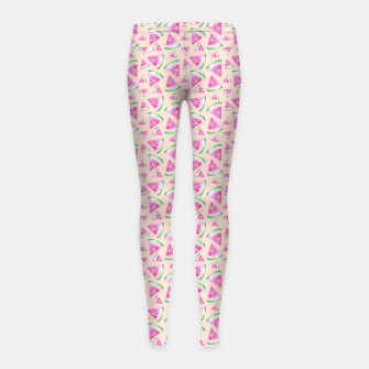 Miniaturka Watermelon Pattern Girl's leggings, Live Heroes