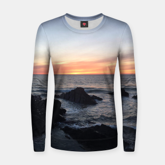 Thumbnail image of Sunset over Putsborough Women sweater, Live Heroes