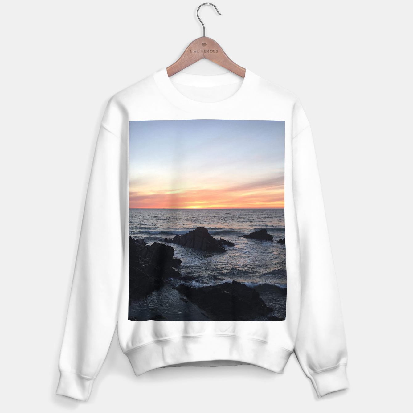 Image of Sunset over Putsborough Sweater regular - Live Heroes