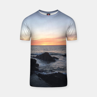Thumbnail image of Sunset over Putsborough T-shirt, Live Heroes