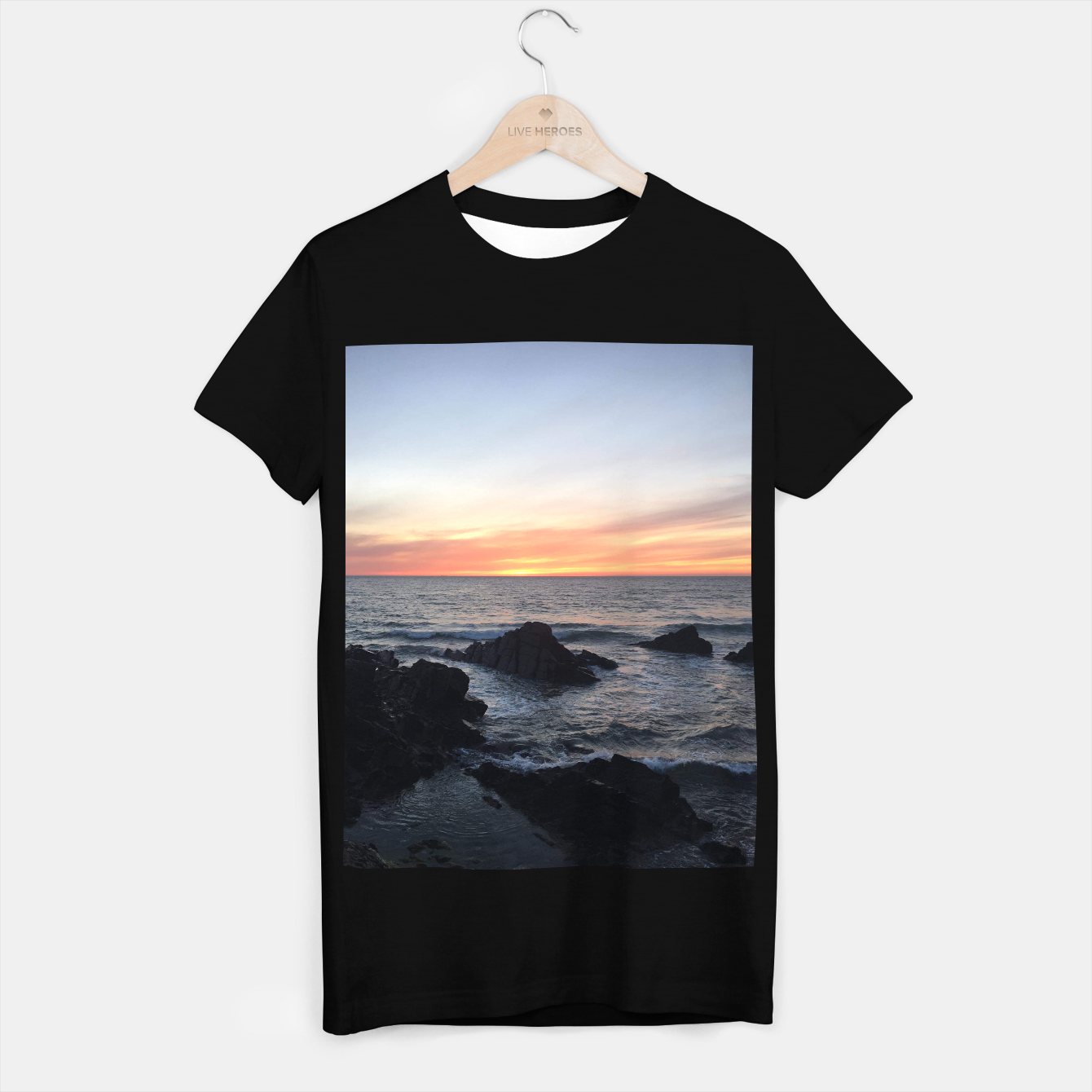 Image of Sunset over Putsborough T-shirt regular - Live Heroes