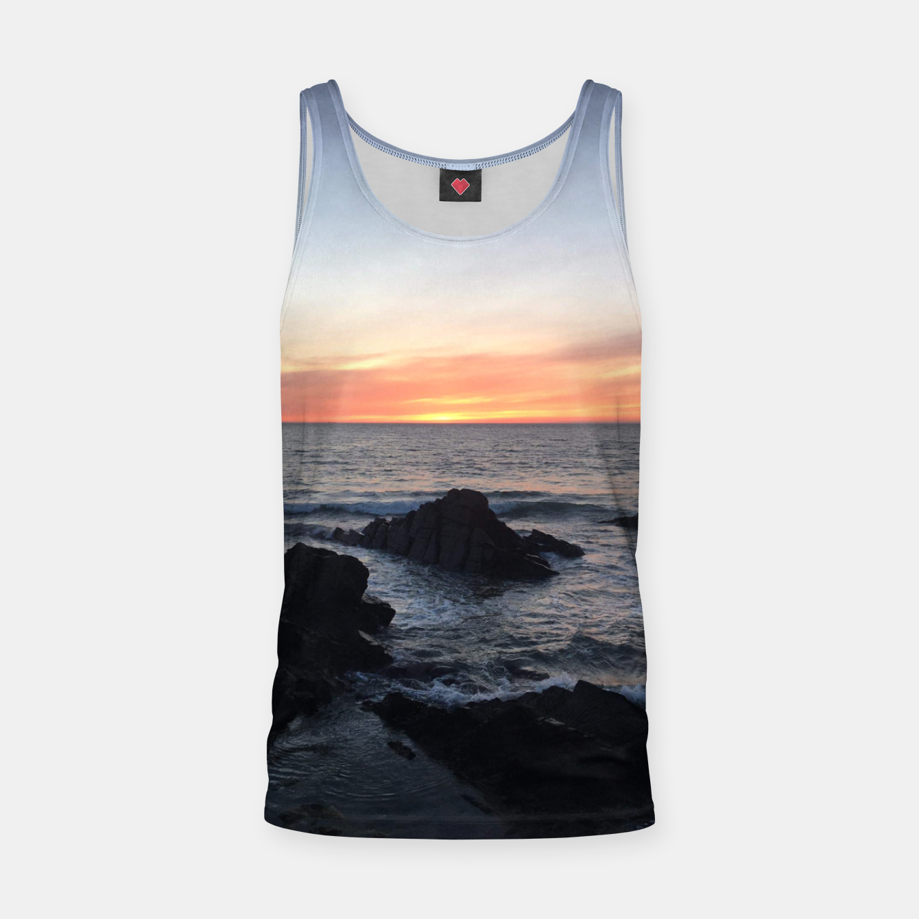 Image of Sunset over Putsborough Tank Top - Live Heroes