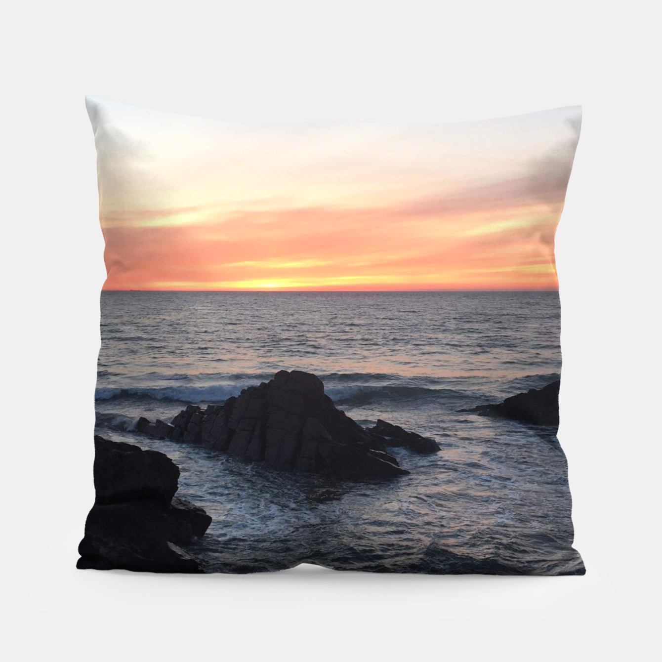 Image of Sunset over Putsborough Pillow - Live Heroes