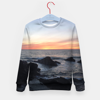 Thumbnail image of Sunset over Putsborough Kid's sweater, Live Heroes