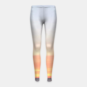 Thumbnail image of Sunset over Putsborough Girl's leggings, Live Heroes