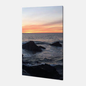 Sunset over Putsborough Canvas thumbnail image