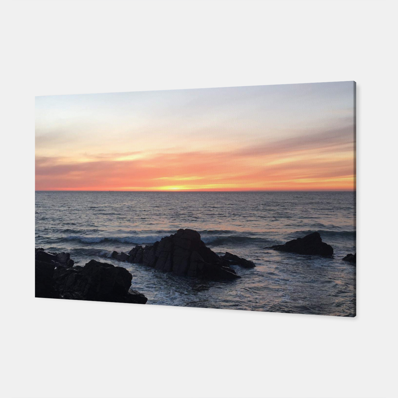 Image of Sunset over Putsborough Canvas - Live Heroes
