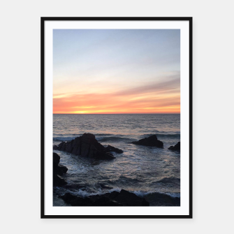 Sunset over Putsborough Framed poster thumbnail image