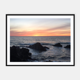 Thumbnail image of Sunset over Putsborough Framed poster, Live Heroes