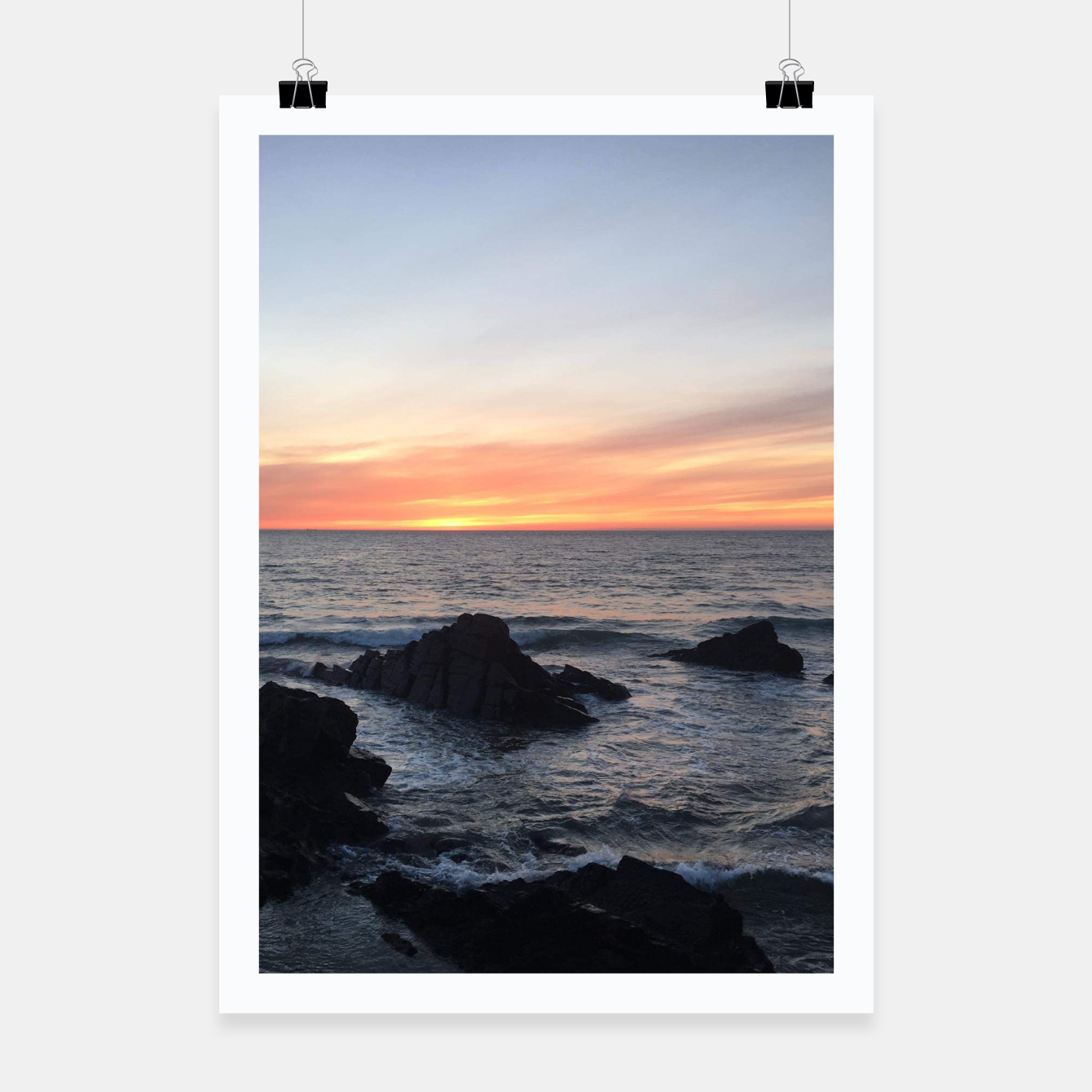 Image of Sunset over Putsborough Poster - Live Heroes