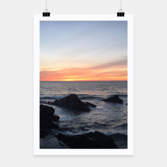 Thumbnail image of Sunset over Putsborough Poster, Live Heroes