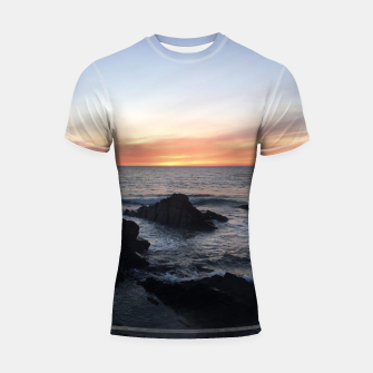 Thumbnail image of Sunset over Putsborough Shortsleeve rashguard, Live Heroes