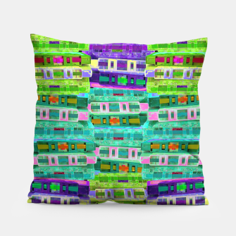 Thumbnail image of Fluoro Cassette Stacks Pillow, Live Heroes