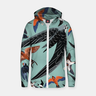 Miniatur Swallows and swifts #2 Sudadera con capucha y cremallera , Live Heroes