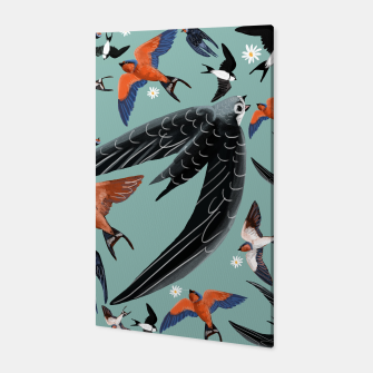 Miniatur Swallows and swifts #2 Canvas, Live Heroes