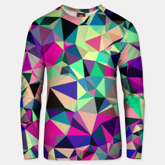Thumbnail image of Purple Blue Fuchsia Geometric Polygons (LH001) Unisex sweater, Live Heroes