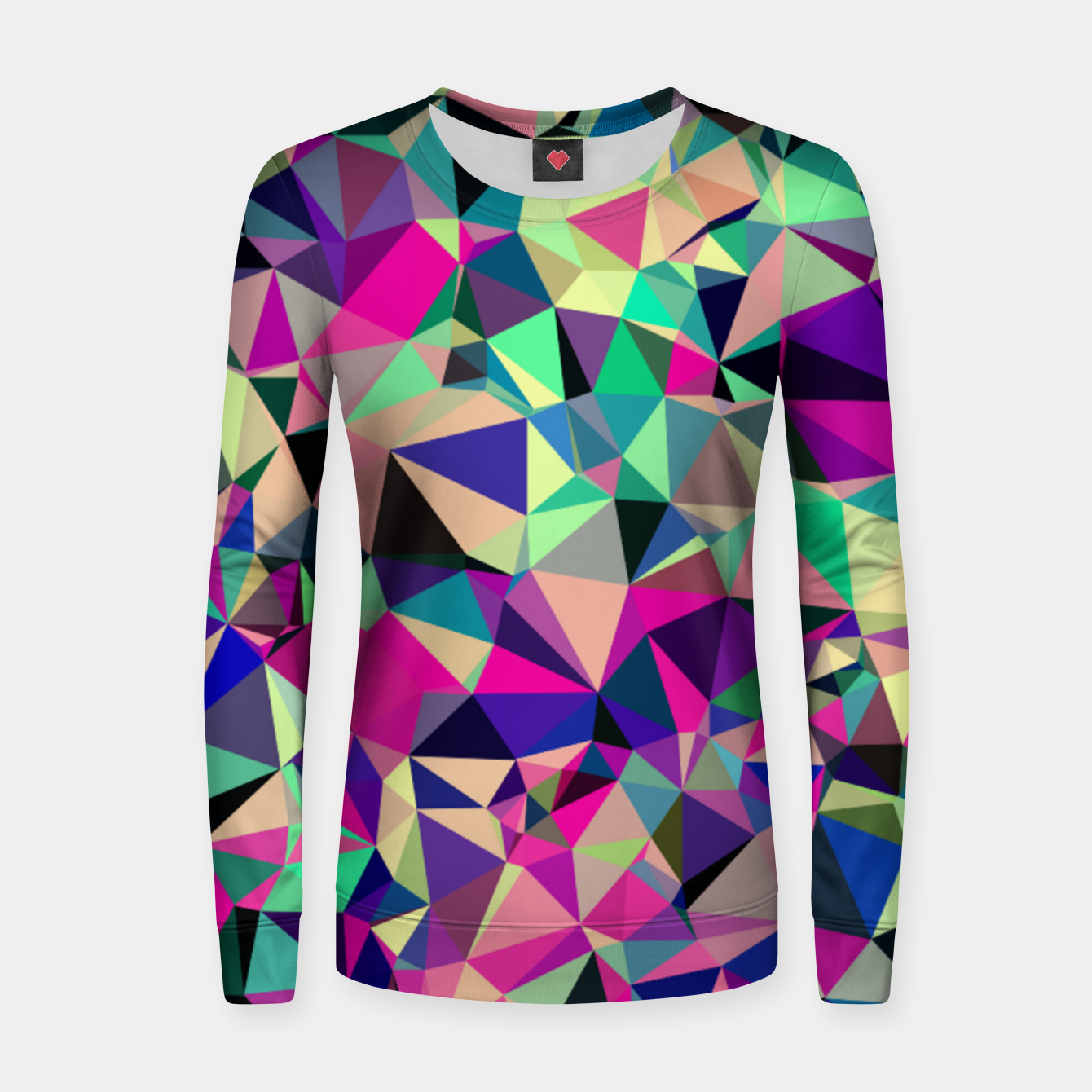 Image de Purple Blue Fuchsia Geometric Polygons (LH001) Women sweater - Live Heroes