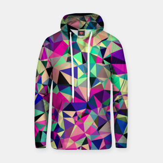 Thumbnail image of Purple Blue Fuchsia Geometric Polygons (LH001) Hoodie, Live Heroes