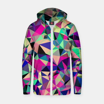 Thumbnail image of Purple Blue Fuchsia Geometric Polygons (LH001) Zip up hoodie, Live Heroes