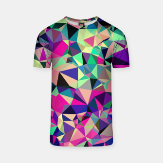 Thumbnail image of Purple Blue Fuchsia Geometric Polygons (LH001) T-shirt, Live Heroes