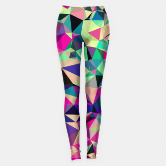 Miniatur Purple Blue Fuchsia Geometric Polygons (LH001) Leggings, Live Heroes