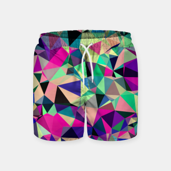 Thumbnail image of Purple Blue Fuchsia Geometric Polygons (LH001) Swim Shorts, Live Heroes